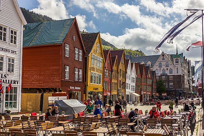 A view of Bergen's historic buildings.