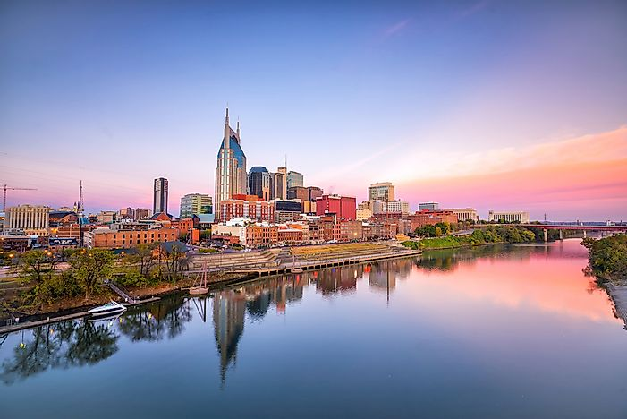 What Is The Capital Of Tennessee Worldatlas Com