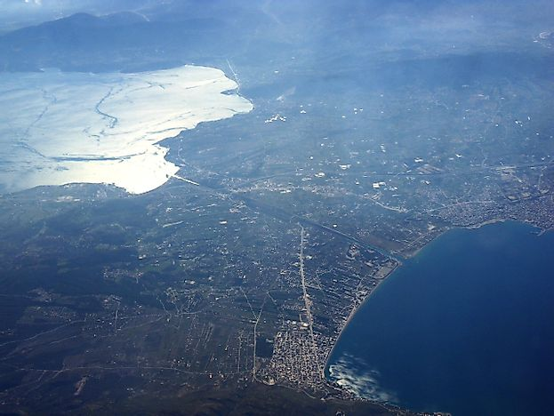 Isthmus Of Corinth, Greece