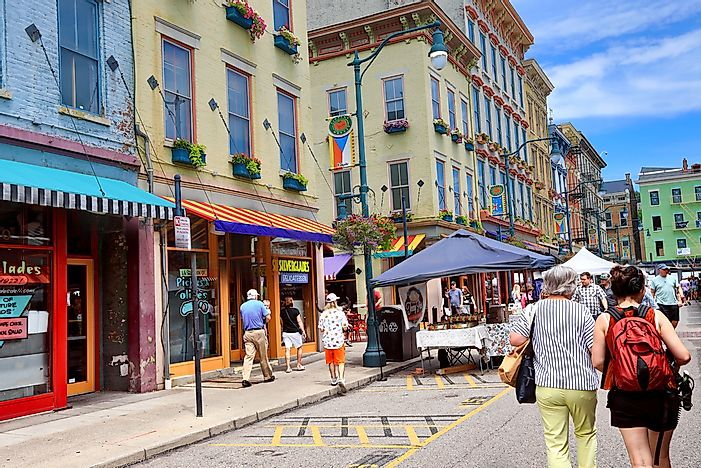Editorial credit: aceshot1 / Shutterstock.com. Findlay Market in Over-the-Rhine, Cincinnati.