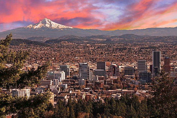 The city of Portland, Oregon.