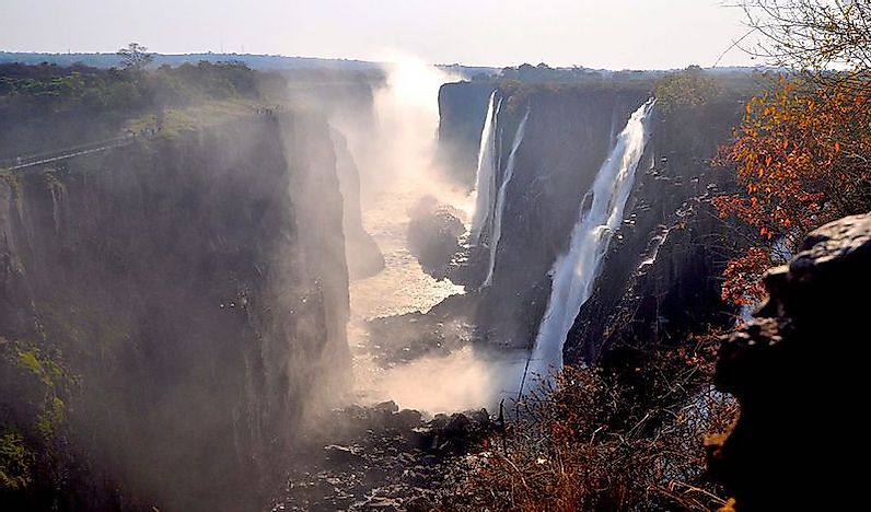 Victoria Falls - UNESCO World Heritage Site In Zambia