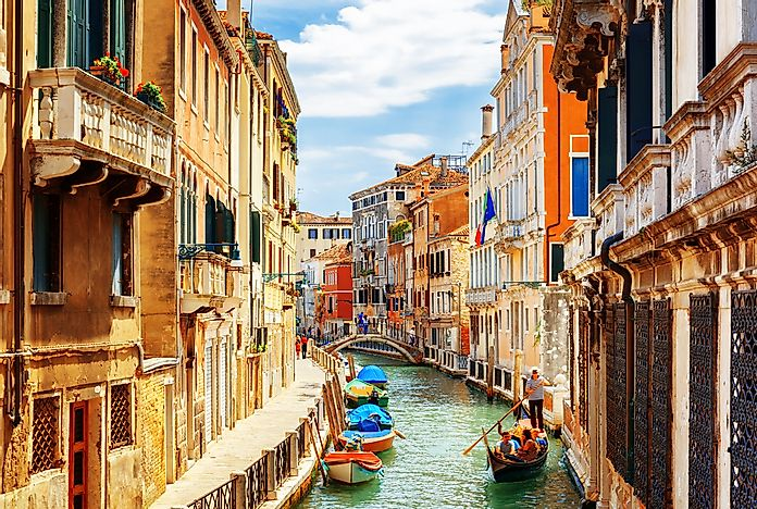 The famous canals of Venice.