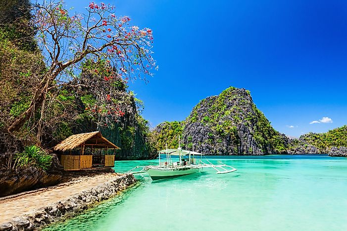A beautiful beach in the Philippines.