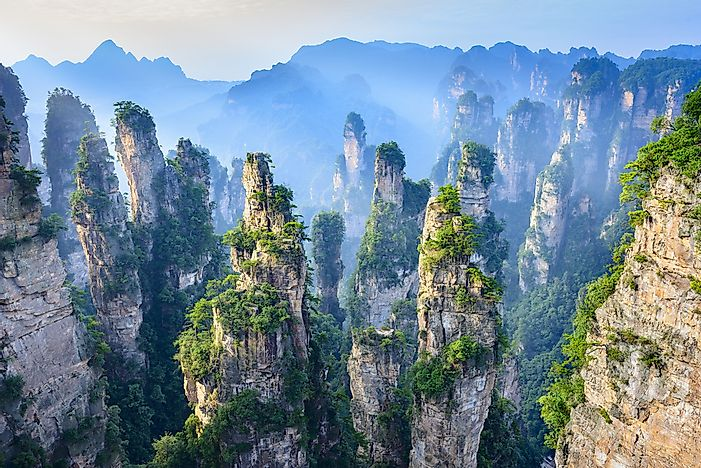 The unearthly landscape of Zhangjiajie National Forest Park.