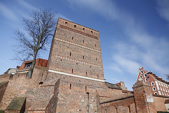 The leaning tower of Torun.