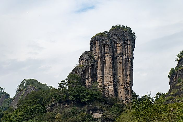 The beautiful and unique Wuyi Mountains.