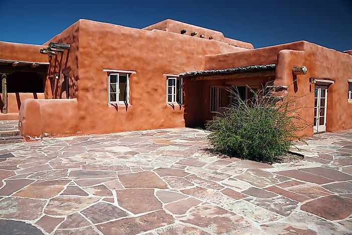 A classic adobe house in the southwestern United States.