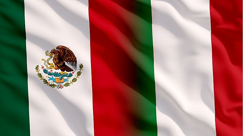 The flag of Mexico, left, and the flag of Italy.
