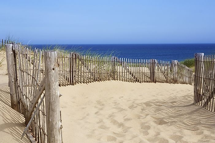 The soft sands of Race Point Beach, Cape Cod.