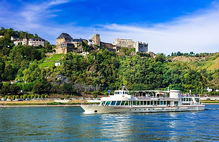 A cruise ship on the Rhine River.