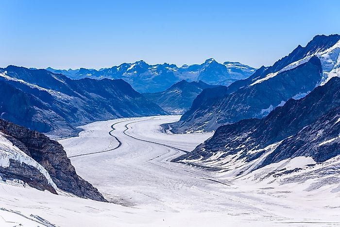 The Effect Of Global Warming On Major Glaciers In Switzerland