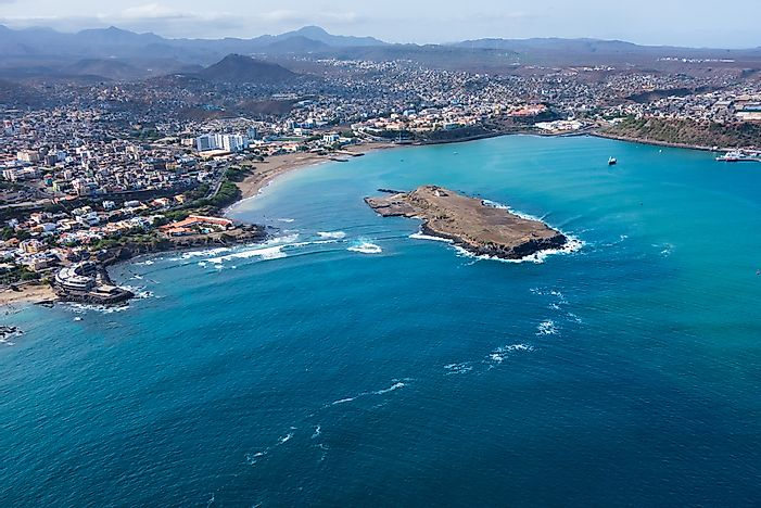 An aerial view of Paia, Cape Verde.