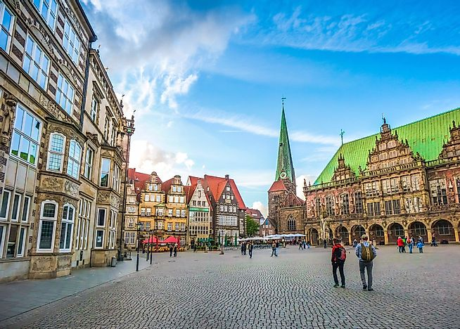 The Market Square of Bremen, Germany.