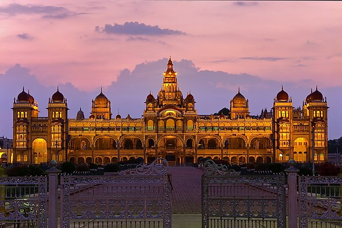 The Historical Mysore Palace of Karnataka, India