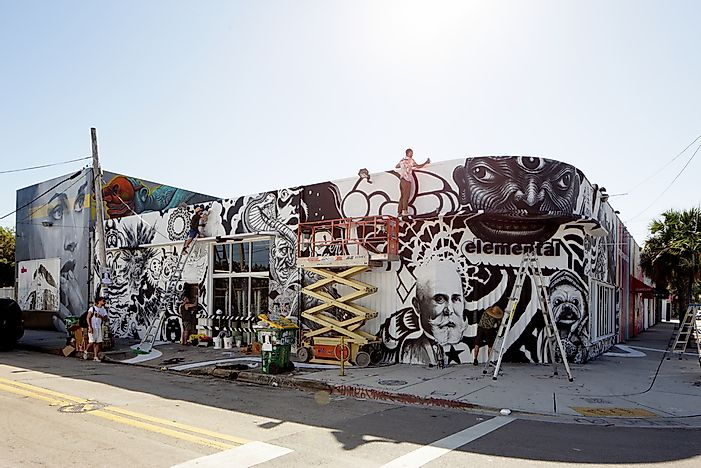 Editorial credit: Felix Mizioznikov / Shutterstock.com. Art murals in Wynwood.