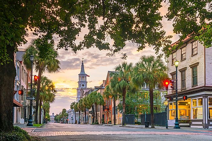 The main strip of Charleston, South Carolina.