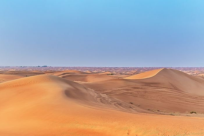The largest deserts in the world worldatlas 4 arabian desert 900000 square miles sciox Images