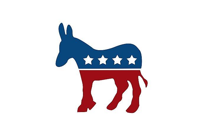 what is the democratic party symbol worldatlascom