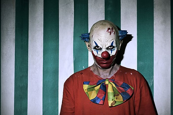 #3 Coulrophobia (Fear of Clowns)