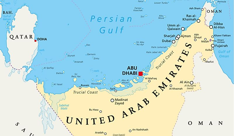 Which Countries Border The United Arab Emirates? - WorldAtlas.com