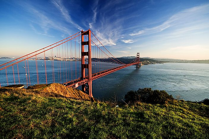 The Golden Gate Bridge near San Francisco, California.