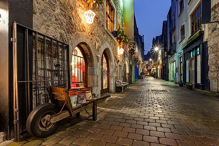 Cobblestone streets of Galway.