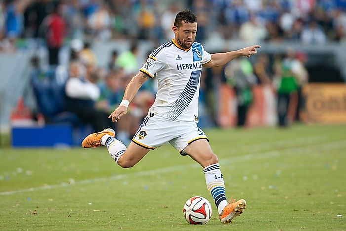 Dan Garganof the Los Angeles Galaxy.  Editorial credit: Photo Works / Shutterstock.com