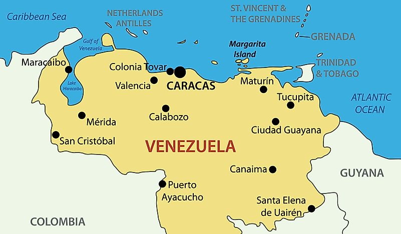 Which Countries Have A Coastline On The Gulf Of Venezuela?
