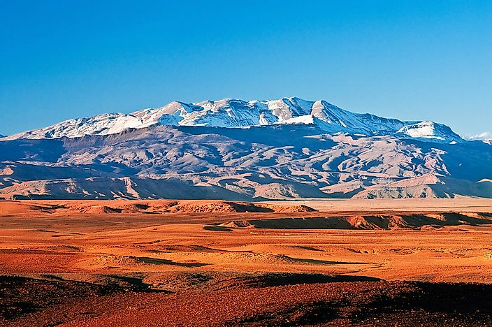 Mountains of the Atlas range in Morocco.