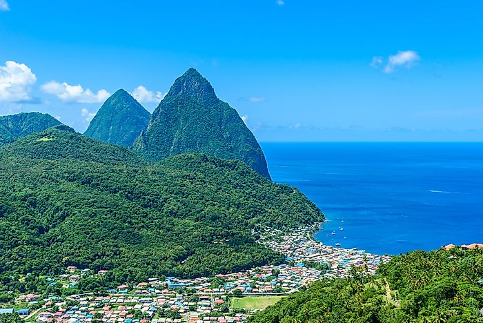 The Wonders Of The Pitons, A UNESCO World Heritage Site In Saint Lucia