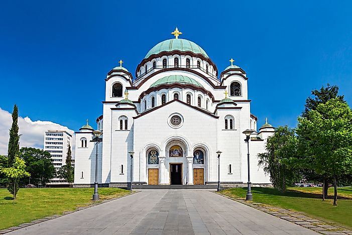 The Church of Saint Sava is the largest Orthodox cathedral in the world.
