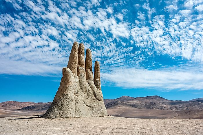 The Hand in the Desert - Unique Places Around the World