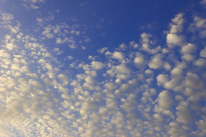 Cirrocumulus clouds.