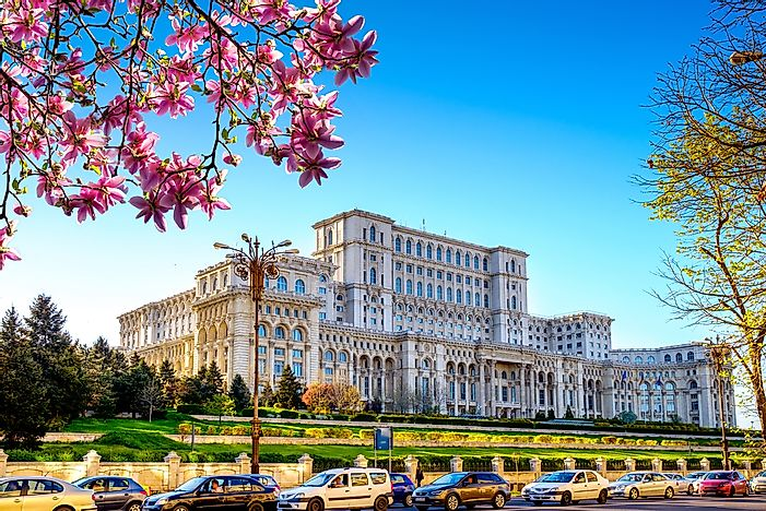 The Palace of Parliament, Bucharest.