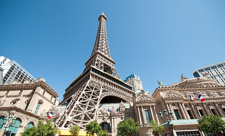 Las Vegas's interpretation of the Eiffel Tower.