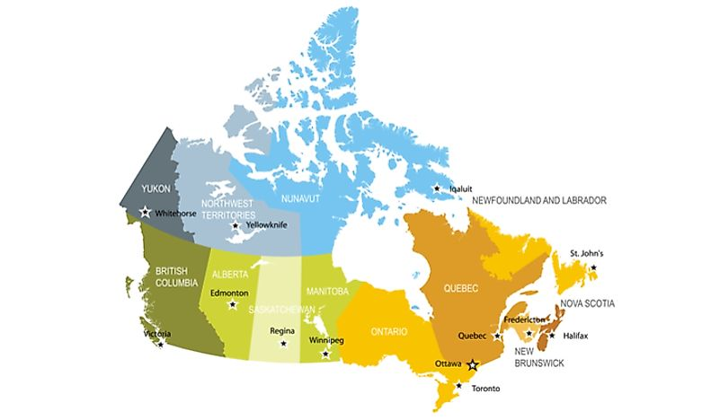 Map Of Canada And The States.Does Canada Have States Worldatlas Com