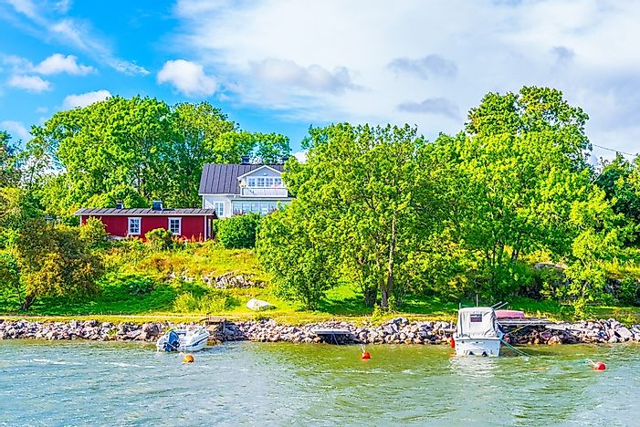 Cottages on a Finnish island.