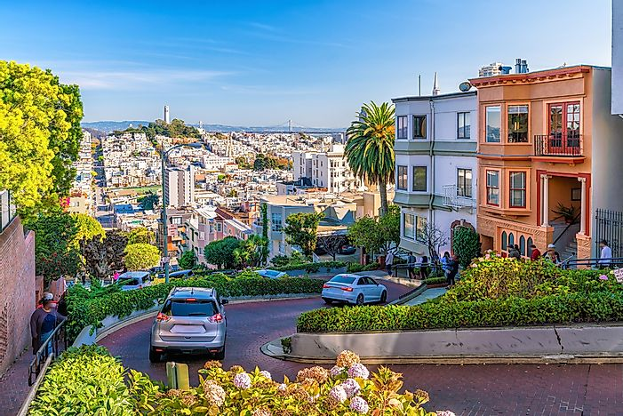 Lombard Street in San Francisco.