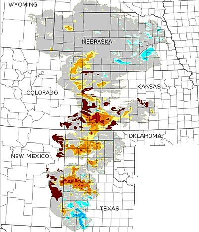where is the ogallala aquifer united states geological survey map representing