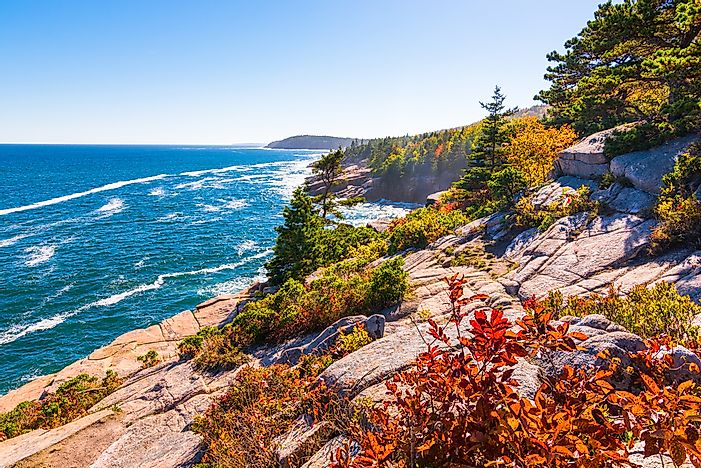 The Atlantic coast in Acadia National Park.