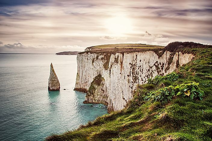 Cliffs at the Isle of Purbeck, England.