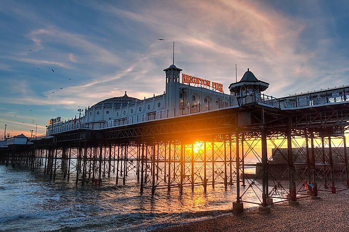 The Brighton Pier in England.