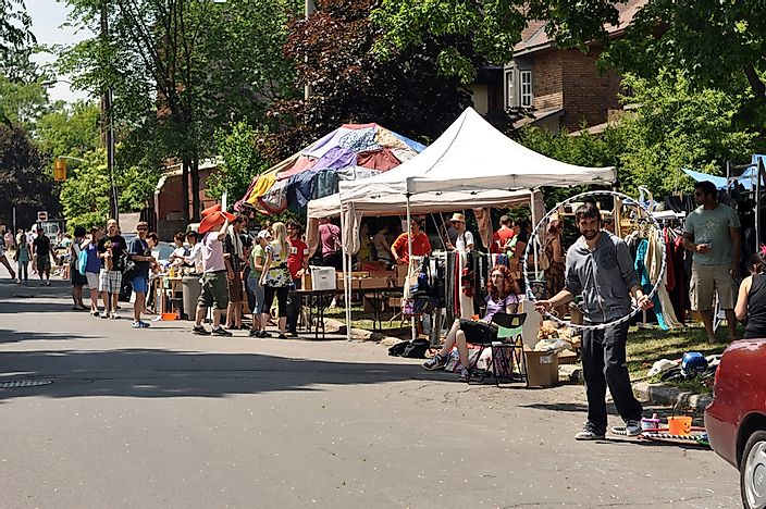 Editorial credit: Paul McKinnon / Shutterstock.com. The annual Glebe neighborhood garage sale.