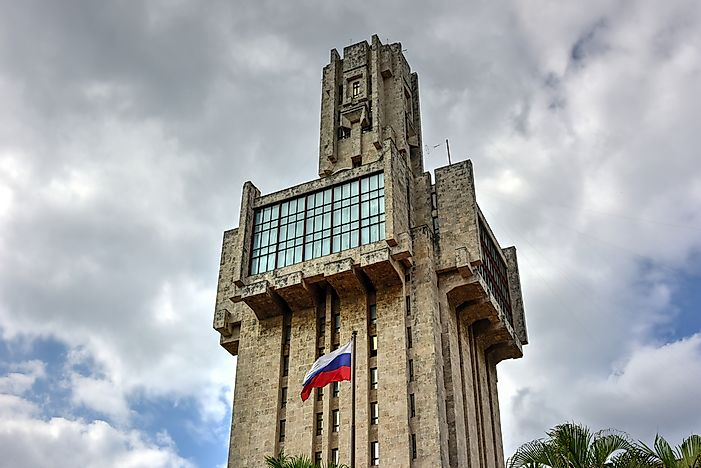 The iconic Embassy of Russia in Cuba.