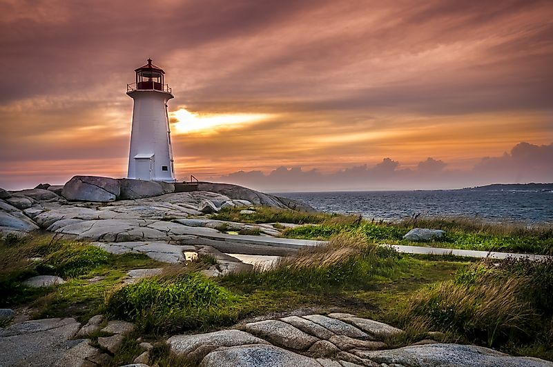 The famous Peggy's Cove lighthouse.