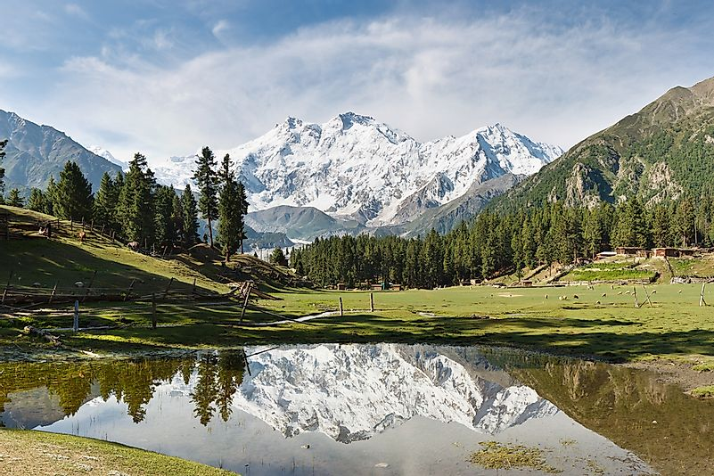 Nanga Parbat, the world's ninth highest mountain, is found in Pakistan.