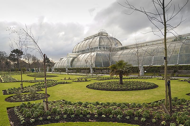 A greenhouse in Kew Gardens.