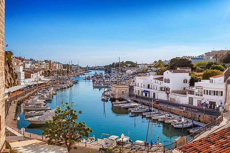 The old town of Ciutadella, on Menorca Island, Spain.