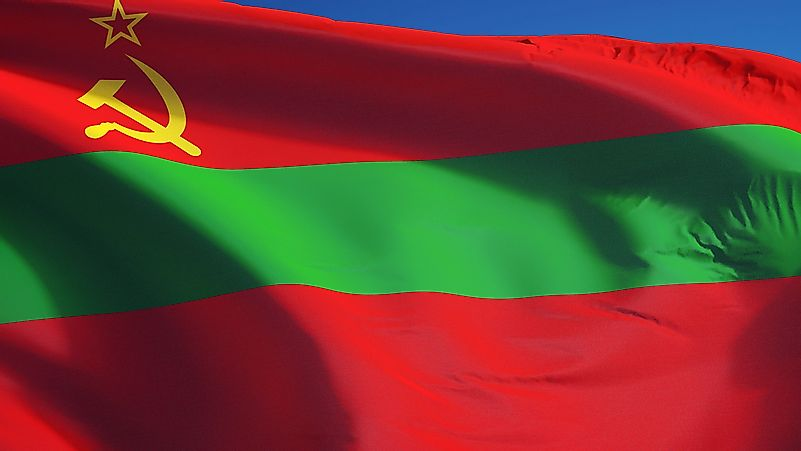 The flag of Transnistria.